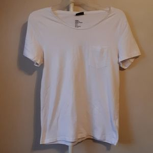 NWOT H&M WHITE BASIC SHORT SLEEVE TEE S